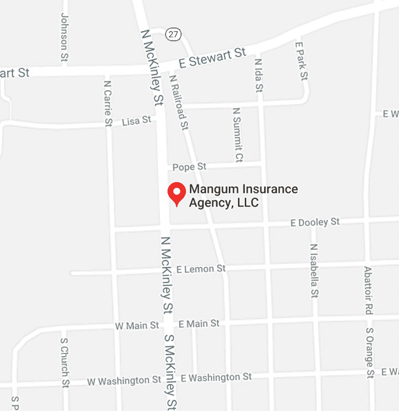 Mangum Insurance Coats, NC Map